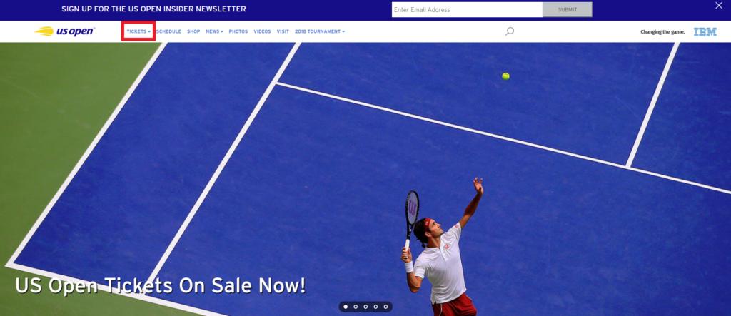 全米オープンテニス公式