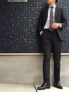 卒園式スーツ父親