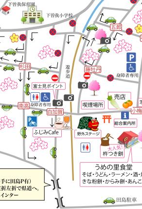 小田原梅まつり2020駐車場