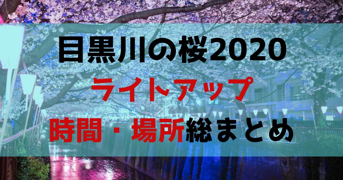 目黒川桜2020ライトアップ